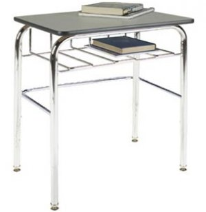 Open View School Desk - Laminate Top, U Brace
