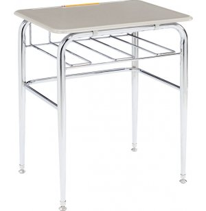 Open View School Desk - Hard Plastic Top, U Brace
