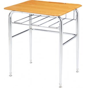 Open View School Desk - WoodStone Top, U-Brace