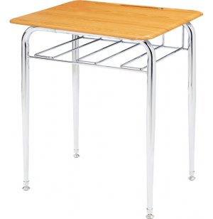 Open View School Desk - WoodStone Top