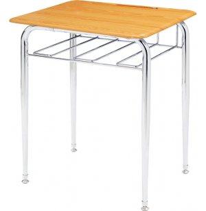 Open View School Desk - WoodStone Top