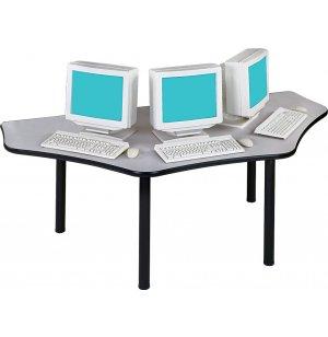 Basix Trapezoid Computer Workstation
