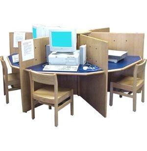 Hexagon Library Computer Table