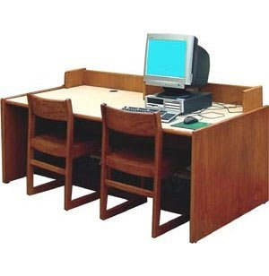 Library Computer Table with Curbing