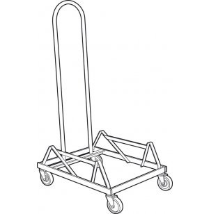 Popcorn Stacking Chair Dolly - Cap. 34