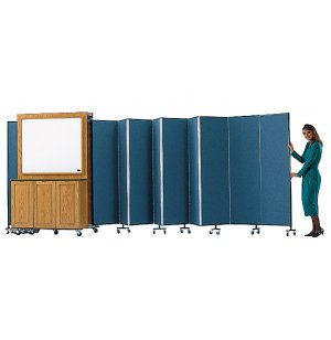 Portable Classroom Partition - Whiteboard & Storage Cabinet
