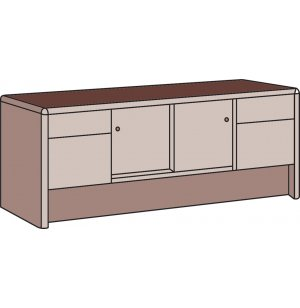 Park Lane Locking Storage Credenza File Cabinet