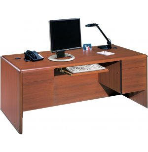 Park Lane Computer Credenza w/ Pullout Keyboard Tray