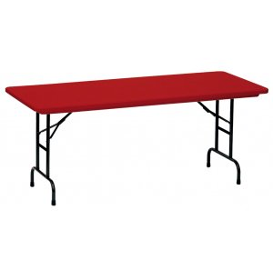 Color Top Folding Table-Adj. Height