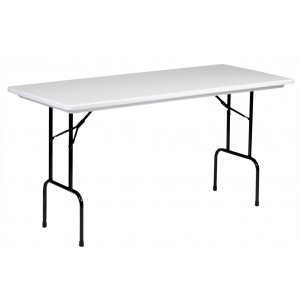 Plastic Resin Rectangular Counter Height Folding Table