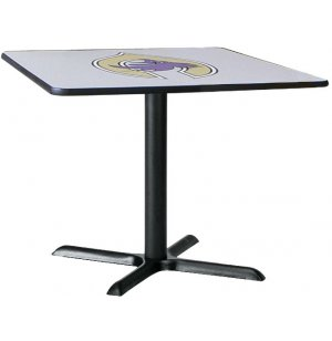 Deluxe Square Cafe Table with X-Base