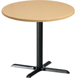 Deluxe Round Cafe Table with X-Base