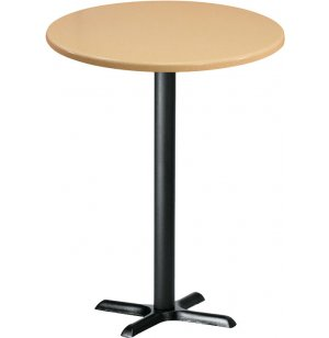Deluxe Round Bar-Height Cafe Table with X-Base