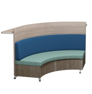 Pocket Booth Lounge Seating with Rear Counter, Veneer