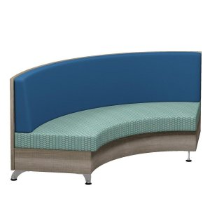 Pocket Booth Lounge Seating, Veneer Finish