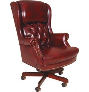 Exec Pillow Back Leather Swivel Office Chair
