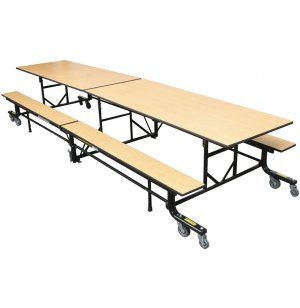 Mobile Cafeteria Bench Table