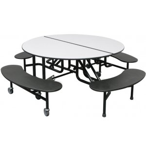 Easy-Fold Round Cafeteria Table