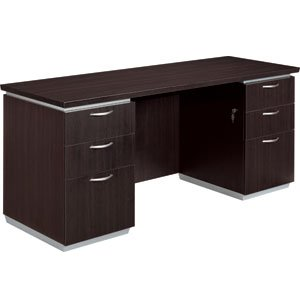 Pimlico Kneespace Office Computer Credenza w/ Flush Ends