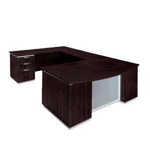 DMI Pimlico Left Bow-Front U-Desk