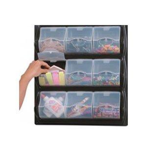 Wall-Mounted Classroom Art Supply Storage - 9 Panel Bins
