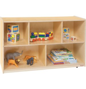 Wooden Classroom Cubby Storage - 5 Section