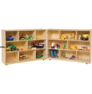 Fold n' Lock Classroom Storage - 16 Cubbies