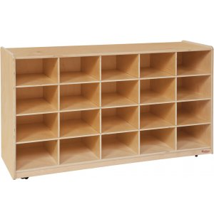 Mobile Preschool Cubby Storage - 20 Cubbies