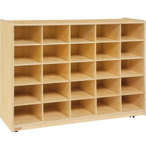 Mobile Preschool Cubby Storage - 25 Cubbies