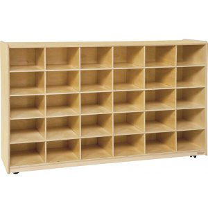 Mobile Preschool Cubby Storage - 30 Cubbies