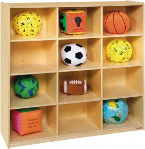 Wooden Cubby Storage - 12 Cubbies