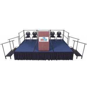 Portable Stage Set Carpeted