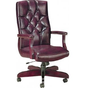 Executive Tufted Swivel Office Chair