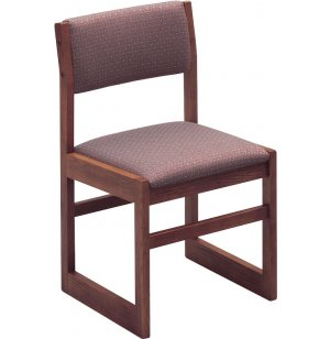 Integra Upholstered Wood Library Chair