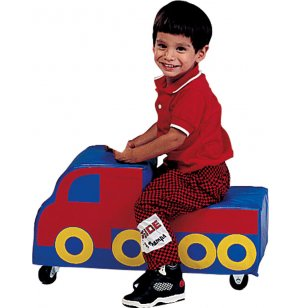 Soft Play Freight Truck Kids Ride On Toy