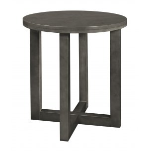 Chloe Solid Wood Round End Table
