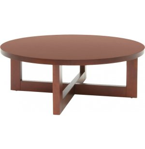 Chloe Solid Wood Round Coffee Table Res 3713r Occasional