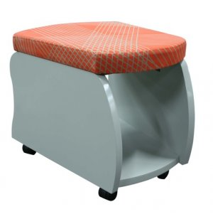 Rojon Mobile Soft Seating Storage Stools