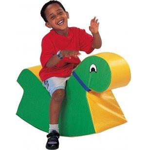 Green Soft Play Rocking Animal