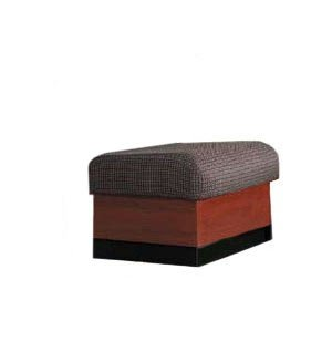 Rotunda 1-Seat Square Reception Bench - Plinth Base