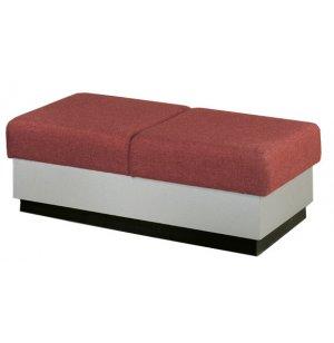 Rotunda 2-Seat Reception Bench - Plinth Base