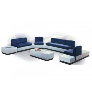 Rotunda Reception Furniture - Plinth Base, 10-piece Set
