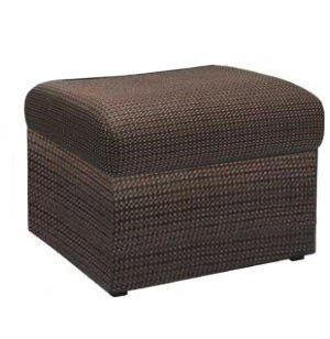 Rotunda Square Reception Bench - Fully Upholstered, 1 Seat