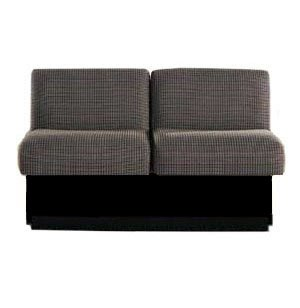 Rotunda Reception Loveseat with Black Base