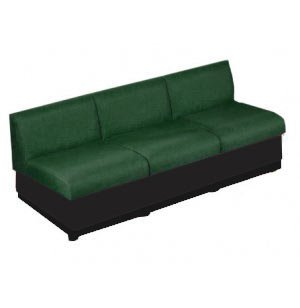 Rotunda Reception Sofa - 3-Seater, Black Base