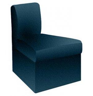 Corner Reception Chair, Fully Upholstered, 45 Deg.-Inverted