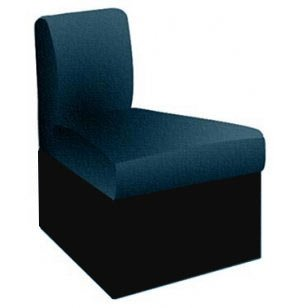 Rotunda Corner Reception Seat, Black Base, 45 Deg., Inverted