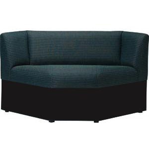 Rotunda Corner Reception Seat - 90 Degrees, Black Base