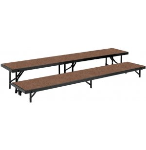 Standing Choir Riser Set - Hardboard, 2-Level
