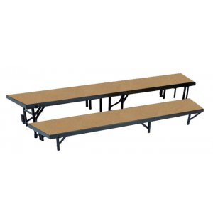 Standing Choir Riser Set - Tapered, Hardboard, 2-Level